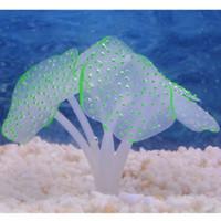 decoraciones de acuario de silicona al por mayor-Belleza de silicona Artificial Fish Tank Aquarium Coral Plant Ornamento Decoración # R410
