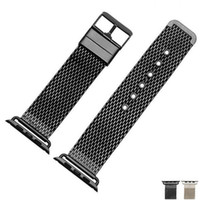 Wholesale Apple Rubber Band - New Milanese Stainless Steel Watch band Strap + Adapters For Apple Watch 42mm 38mm Sport Watch Watch Editio