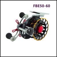 Wholesale Cnc Aluminum Fly Reel - New FBE 50-60 Automatic wire spread Raft Reels 4 + 1BB All aluminum alloy CNC Sea Fishing Spinning Wheels