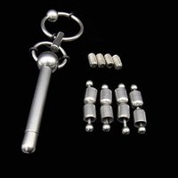 Wholesale male sm gear for sale - Group buy Removable adjust male stainless steel urethral sounds sex toys BDSM gear bondage chastity device urethral catheter SM