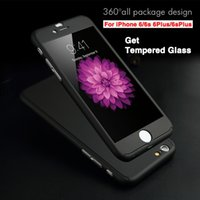 Wholesale iphone back battery cover black online – custom 360 Full Edge Shockproof Tempered glass Case For iphone Plus Hard Back Cover For iPhone XR XS MAX For samsung DHL