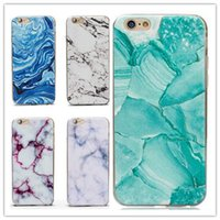 Barato Desenhar Iphone Casos-12 Style Ultra-Thin Granite Marble Rock Soft TPU Case Stone Pattern Desenho colorido Back Cover para iphone X 8 7 6 6S plus