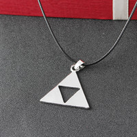 Wholesale legend zelda figures - Legend of Zelda the Triforce Zelda Triforce Necklace Alloy Triangle Figure Pendant Necklace Fashion Jewelry for Women Men Drop Shipping