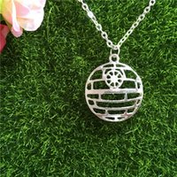 Wholesale Death Pendants - Star Trek necklace silver hollow Lost In Space Death Star pendant necklaces men women link chain statement jewelry 160585