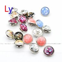 Wholesale Shell Buttons China - Abstract painting style girl 12mm Button NOOSA Ginger Snap Charms interchangeable jewelry Charms Pendants Necklace Mixes YD0081