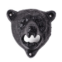 Wholesale bear shaped bottles resale online - by DHL or EMS cast iron bear shaped hang wall mounted opener bottle