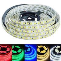 en iyi fiyatlarla yılbaşı lambaları toptan satış-Süper Parlaklık Su Geçirmez LED Şerit Işık 5 M 600 LEDs 2835 SMD Sıcak Beyaz Saf Beyaz Kırmızı Yeşil Mavi DC12V LED Bant Şerit Halat Aydınlatma