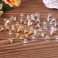 Wholesale Diy Ear Rings - Best Earring Ear Stud Backs Stoppers Ear Post Nuts Jewelry Findings Components Gold Silver Earnuts Earrings Back Ear Rings Accessories DIY