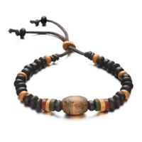 Wholesale Porcelain Gifts For Men - New design bracelets for men Jamaica retro Ceramic bracelets hand-woven beaded bracelets free shipping