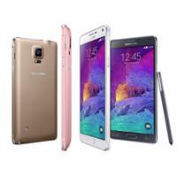 not yenilemek toptan satış-2016 Yenilenmiş Orijinal Samsung Galaxy Not 4 N910P Unlocked Telefon 5.7 Inç 3 GB RAM 32 GB ROM 4G FDD-LTE 16.0 M