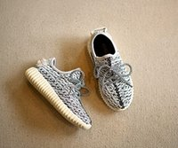 Wholesale New Top Baby Shoes - 2016 New Kids kanye west style Running Shoes Snakers Kanye West boost black grey Baby Fashion sport Running Shoes Size:26-36 top quality