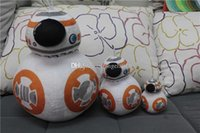 Wholesale Robot Animals Cartoon - EMS Q Edition BB-8 Plush Toys Cartoon BB-8 robot Stuffed Animals Soft Doll 20cm 8 inch with tag C363