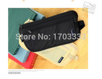 Wholesale Travel Security Money Bag - 100pcs Travel Storage Bag Money Security Purse Waist Pack Purse Money Coin Cards Passport Waist Belt Tickets Bag Pouch #DG01