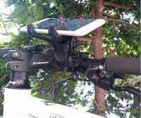 bisiklet için cep telefonu tutacağı toptan satış-360 Derece Evrensel Motosiklet MTB Bisiklet Bisiklet Telefon Tutucu Gidon Dağı iphone Samsung Cep Telefonu GPS MP4 MP5 için