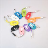 Para el iphone 5 ipod ipad mp3 mp4 teléfono 1m los 3ft los 2M 6ft los 3M los 10ft 3.5mm platean el cable audio de la estereofonia del cable estéreo a los coches masculinos del coche Cables Audio Cables