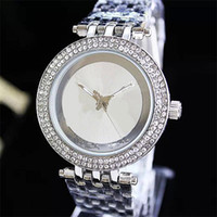 Wholesale Double Dial Watches - Luxury watch Double Row Rhinestones Dial Large letters Ladies Watch Alloy watch men and women fashion Quartz Watches Free Shipping