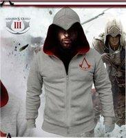 Wholesale Cosplay Sweaters - 2016 Assassin's   assassins Creed Hoodie Coat Jacket Men's cosplay Hoodie Personality Leisure overcoat   sport suit  Men's zipper sweater