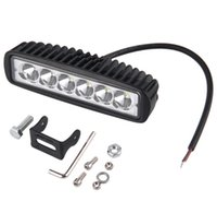 Wholesale Off Road Leds Bar - New 1620lm 12V 18W 6 LEDs Headlight Bar Car Spot Work Lamp Light For boating Car SUV Trailer Off Road hot selling