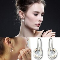Wholesale Earring Gold Plated Italina - Luxury Brincos Long Earring Blue Italina Austrian Crystal Drop Earrings For Woman Fashion Jewelry Accessories C7R13