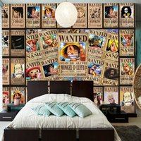 Wholesale Photo Print Stores - Custom Wall Mural Japanese anime 3D wallpaper for walls 3D One Piece Photo Wallpaper Kids Bedroom Toy store Hotel wall covering Room Decor
