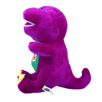 "Wholesale Dinosaur Plush - Singing Friends Dinosaur Barney 12"" I LOVE YOU Plush Doll Toy Gift For Kids"