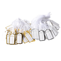 Argositment 1000 Pcs Tie-on Jeweley Display Small Scalloped Preço Etiquetas Silver and Gold Label White String