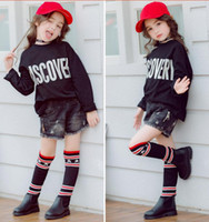 Wholesale Toddler High Fashion Boots - 2017 Toddler Pu Leather Knitting Boot Baby Girl Kid Boy Slip On kids Fashion Pu Leather Black Booties shoes