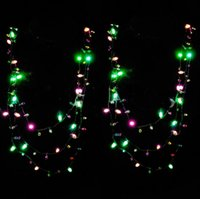 LED Natal Flashing Bulbs Colar String Lights Costume Light Up Necklace Party Favor Children Gifts OOA3568