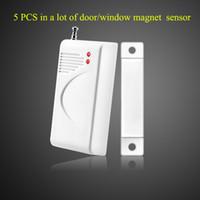 sensores de puerta inalámbricos 433 mhz al por mayor-Sensor de puerta inalámbrico, detector de ventana, contacto magnético de seguridad, contacto de puerta, 433MHZ por defecto, sensor de puerta opcional315MHZ para sistema de alarma hogareño