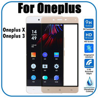Wholesale One X Screen Guard - 0.33mm Full Cover Color Tempered Glass Protective Film For Oneplus X 3 Screen Protector Guard Film For One Plus X 3