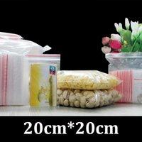 pe sacs en plastique zip lock achat en gros de-20cm 20cm emballage de qualité alimentaire plat refermable zip verrouiller PE sac en plastique clair