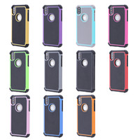 Wholesale Protective Cases Iphone5c - Hybrid Dual for Iphone X Layer Shock Absorbin Armor Defender Protective Case Cover for Iphone8 Iphone8 plus 5.5inch Iphone6 Iphone5C