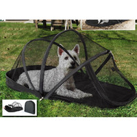 Wholesale New Arrival Pet Outdoor Tent Portable Cat Dog House Folding Dog Tent with Mosquito Net Puppy Beds Kennel JJ0059
