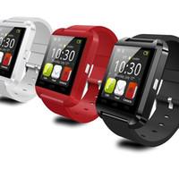 rohs android venda por atacado-Ce Rohs Silicone Strap Relógio Inteligente U8 Relógio de Pulso Barato Suporte Bluetooth Speaker Android Telefone Celular Relógio U8 2019