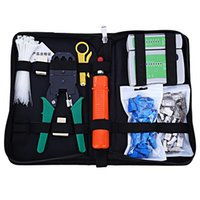 Network Computer Maintenance Repair Tool Kit Tesoura de cabo Cross / Flat Screwdriver Plmper Pliers Rj45 Cat5 Cat5e Connector Plug