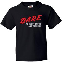 Wholesale Classic Licenses - Summer Short Sleeves Cotton Fashiont Shirt Officially Licensed DARE Classic Graduation Shirt Men'S Fashion Black Cotton