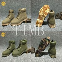 Wholesale Camouflage Women Boots - Fashion Unisex Timberland Men Women 6-Inch Premium Boots Classic 10061 Lovers Timberlands boots Camouflage Shoes Bottom Ankle Boots