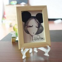 Wholesale Plastic Card Display - 3 5 7 9 inch Collectibles Mini Clear Plastic Coin Minerals Plates Cards Display Medal Gem Badge Golf Post Easel Stand Holder frame