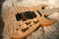 gitar elektrikli aktif toptan satış-Özel Jack Son PC1 Phil Collen Qulit Akçaağaç Klor Doğal Elektro Gitar Floyd Rose Tremolo, Aktif Manyetikler 9 v Pil Kutusu