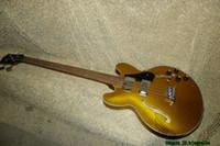 335 guitarras electricas al por mayor-Nuevo 4 Cuerdas Hueco 335 Eléctrico Bajo Oro Alta Calidad China Bass Guitars de China