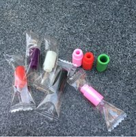 Wholesale Clearomizer Caps - Individually wrapped Plastic drip tips mouthpiece 510 drip tips caps silicone drip tips cover for sub ohm Clearomizer Atomizer Disposable