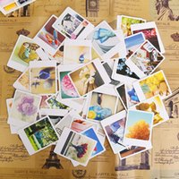 Wholesale Vintage Greetings Cards - Wholesale- 55 pcs lot vintage mini cards set greeting   thank you   blessing card   message card  gift stationery school supplies