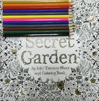 Secret Garden Lost Ocean An Inky Treasure Hunt And Coloring Book With 12pcs Coloured Pencils Adult Children Relax Graffiti Painting UK
