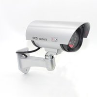 Wholesale Nice Led - P2100 Nice Dummy Fake Surveillance Security CCTV Dome Camera Indoor Outdoor with one red LED Light Look Real primary battery powered AT