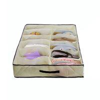 Wholesale Transparent Foldable Shoe Box - 2015 Hot selling Transparent 12 grid foldable Non woven Storage Box For Shoes