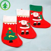 Wholesale Christmas Stockings Wholesale Prices - 35*25CM Christmas Theme Stocking Sock Tapestry Sack Gift Bag wholesale vip price for large order Xmas hanging decoration for children