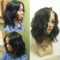 Wholesale Short Bobbed Hairstyles - For Black Women Brazilian Short Bob Human Hair Wigs 130 Density Lace Front Wigs Natural Wavy Glueless Full Lace Wigs With Baby Hair