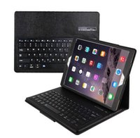 Wholesale Ipad Keyboard Bluetooth Pouch - hot sale tablet case removeable wireless bluetooth silicone keyboard folio leather case for ipad pro 12.9