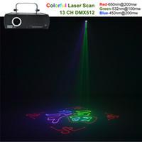 Wholesale Usa Source - AUCD 500mW RGB Beam Animation Laser Program Source DMX Projector Stage Lighting PRO DJ Show KTV Club Scanner Lights DJ-500RGB