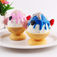 Wholesale Ice Cream Hearts - New PU Stress Reliever Jumbo Squishy Ice Cream Cup Chocolate Heart Strawberry Slow Rising Prime Scented Model Finger Decompression Toy